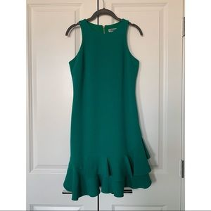 Ruffle Green Cocktail Dress 👗